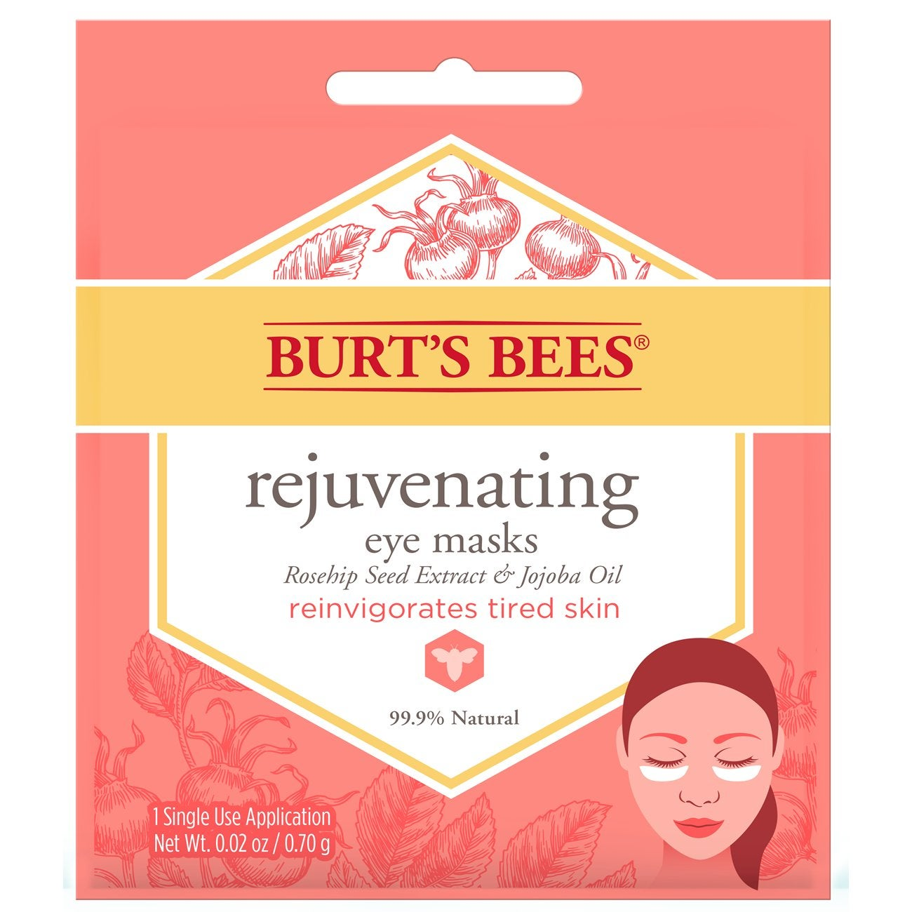 Máscara Facial - Burt's Bees® Rejuvenating Eye Mask