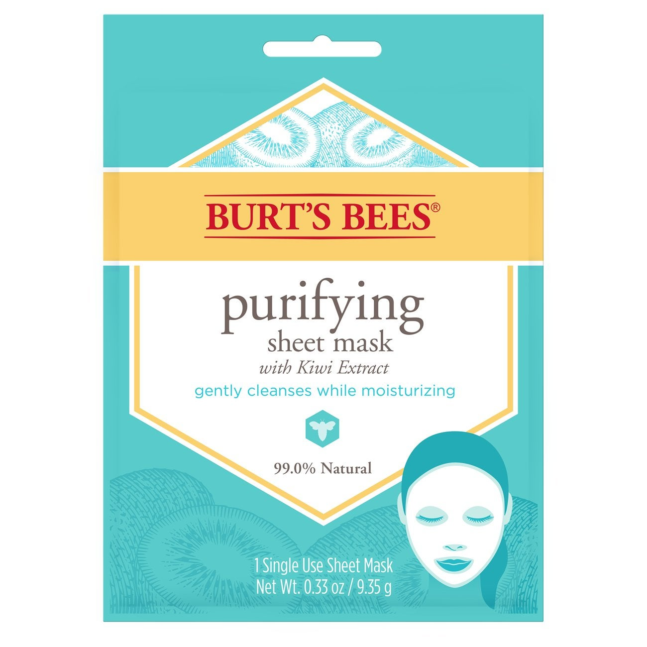 Máscara Facial - Burt's Bees® Purifying Sheet Mask